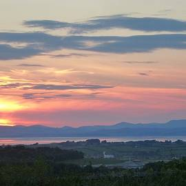 Nigel Radcliffe - Sunset over Morecambe Bay and the Lakeland fells