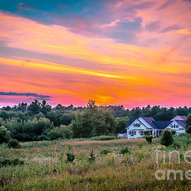 Claudia Mottram - Sunset over New England