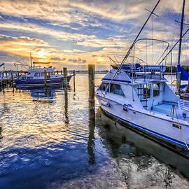 Debra and Dave Vanderlaan - Sunset over the Docks