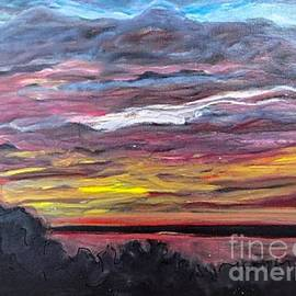 Paula   Baker - Sunset Over the Mississippi