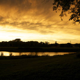 Thomas Woolworth - Sunset Over The Pond Frankfort IL