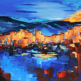 Elise Palmigiani - Sunset Over the Village 2 by Elise Palmigiani
