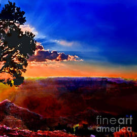 Bob and Nadine Johnston - Sunset Painting Grand Canyon