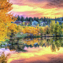 Lynn Bauer - Sunset Reflections in Mammoth Lakes