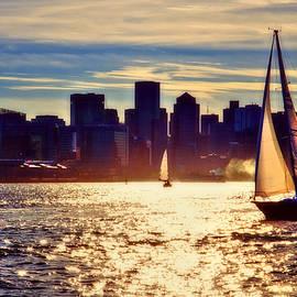 Joann Vitali - Sunset Sailing on Boston Harbor