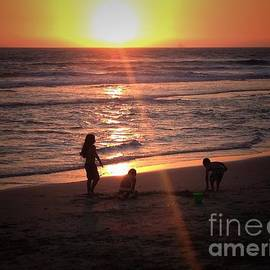 Leah McPhail - Sunset Sandcastle