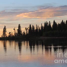 Dale Jackson - Sunset Silhouette At Cottonwood Lake Colorado