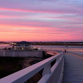 Sunset Stroll On The Bridge