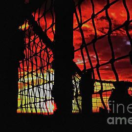 Pete Moyes - Sunset through Rigging