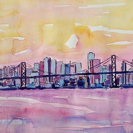 M Bleichner - Super San Francisco Skyline In Bay Area Dreams