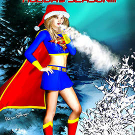 Alicia Hollinger - Supergirl Holiday Greeting Card