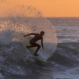 Bruce Frye - Surfing at Sundown