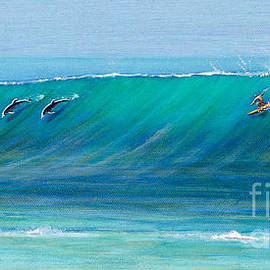 Jerome Stumphauzer - Surfing With Dolphins