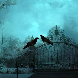 Kathy Fornal - Surreal Gothic Ravens Fantasy Art Gate Scene