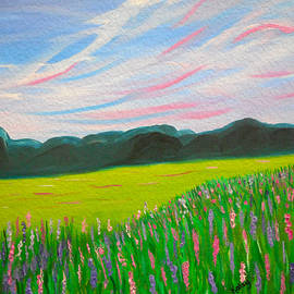 Kathy  Symonds - Sweet Calm 2- Lavender field