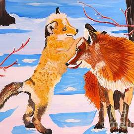 Phyllis Kaltenbach - Sweet Vixen and Kit Foxes