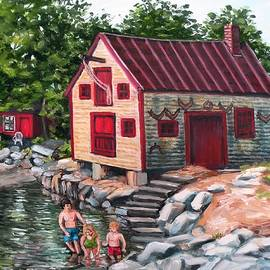 Eileen Patten Oliver - Swimming At The Fish Shack