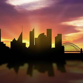 Sydney Skyline Sunset AUSY22 - Aged Pixel