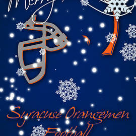 SYRACUSE ORANGEMEN CHRISTMAS CARD - Joe Hamilton