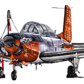 Clay Greunke - T-34C Mentor Forward Quarter