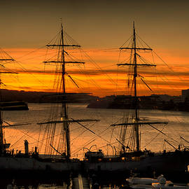 Pedro Cardona - Tall ship sunrise by pedro cardona