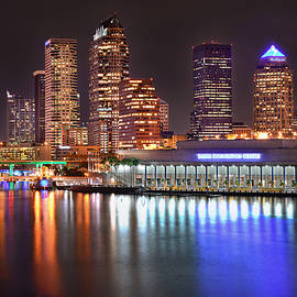 Jon Holiday - Tampa Skyline at Night Early Evening
