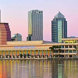 Frozen in Time Fine Art Photography - Tampa Sunset Panoramic Scene