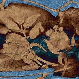 Delynn Addams - Tan on Blue Silhouette Rose