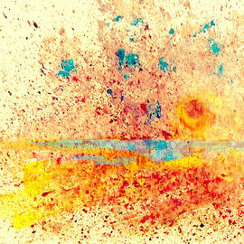 Valerie Anne Kelly - Tanslucent-Abstract Painting by V.kelly