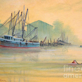 Bill Holkham - Tarpon Springs Sponge Docks Misty Sunrise
