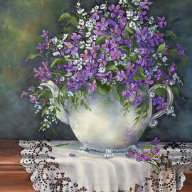 Jean Harrison - Teapot with Violets