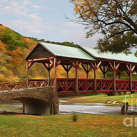 Dan Carmichael - Tennessee Bridge in Autumn on the Cherohala Skyway AP