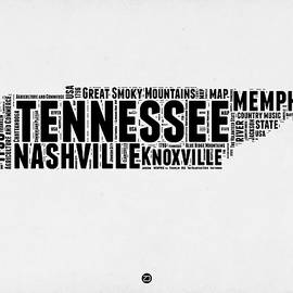 Tennessee Word Cloud Map 2 - Naxart Studio