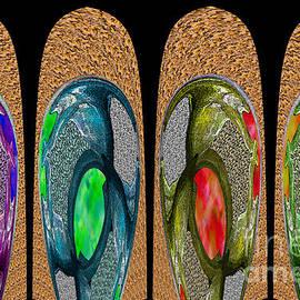Nina Silver - Textured Paddles - An Abstract