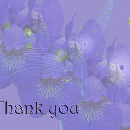 Mother Nature - Thank you Greeting Card - Irises in Purple
