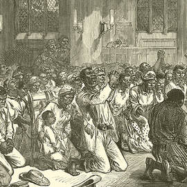 Thanksgiving Service at Midnight for the Emancipation of the Slaves - English School