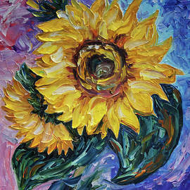 OLenaArt Lena Owens - That Sunflower from the Sunflower State