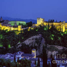 Guido Montanes Castillo - The Alhambra and Sierra Nevada at blue hour