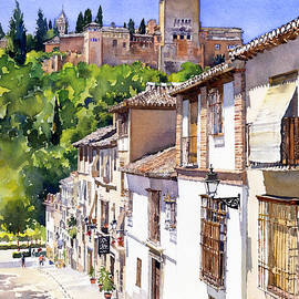 Margaret Merry - The Alhambra From Calle Victoria