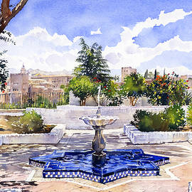 Margaret Merry - The Alhambra from the Mezquita in Granada