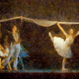Akos Horvath - Ballet Dancers Performance Show In The Opera. Home Decor  Digital Art Print by Akos Horvath