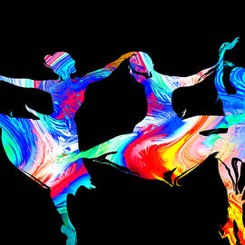 Abstract Angel Artist Stephen K - The Ballet Electric