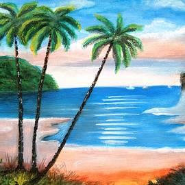 Manjiri Kanvinde - The Beach colorful Landscape