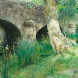 The Bridge in Grez - Carl Larsson