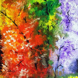 Arun Sivaprasad - The Colourful Trees Abstract