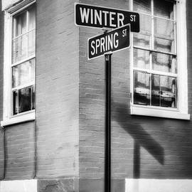 Jerry Fornarotto - The Corner of Winter and Spring bw