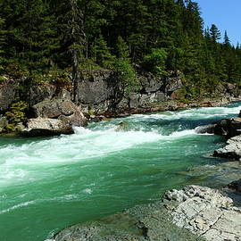 Christiane Schulze Art And Photography - The Deep Green Waters Of McDonald River