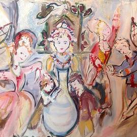 Judith Desrosiers - The dolls decorate the toy factory