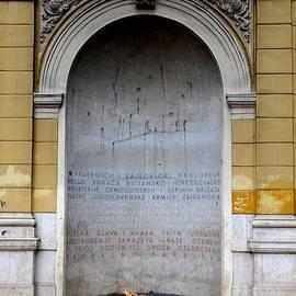 Imran Ahmed - The Eternal Flame or Vjecna vatra dedicated to victims of World War Two Sarajevo Bosnia Hercegovina
