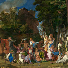 The Feast of the Gods  - Giovanni Bellini and Titian